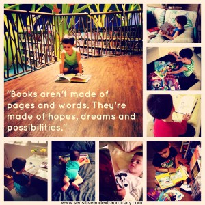 books aren't made of pages and words. they're made of hopes, dreams and possibilities