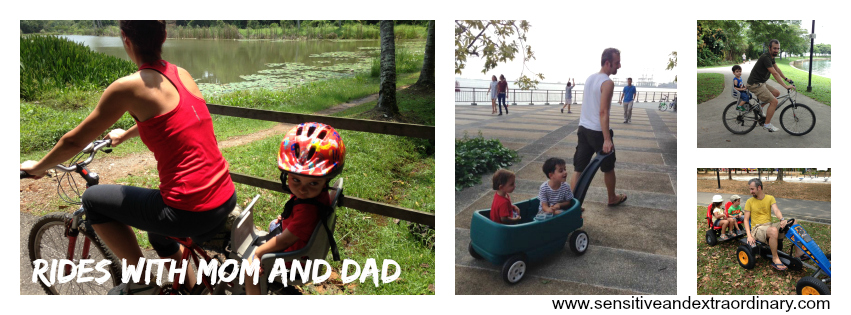 5 Outdoor Activities for the Highly Sensitive Child: Rides with Mom and Dad