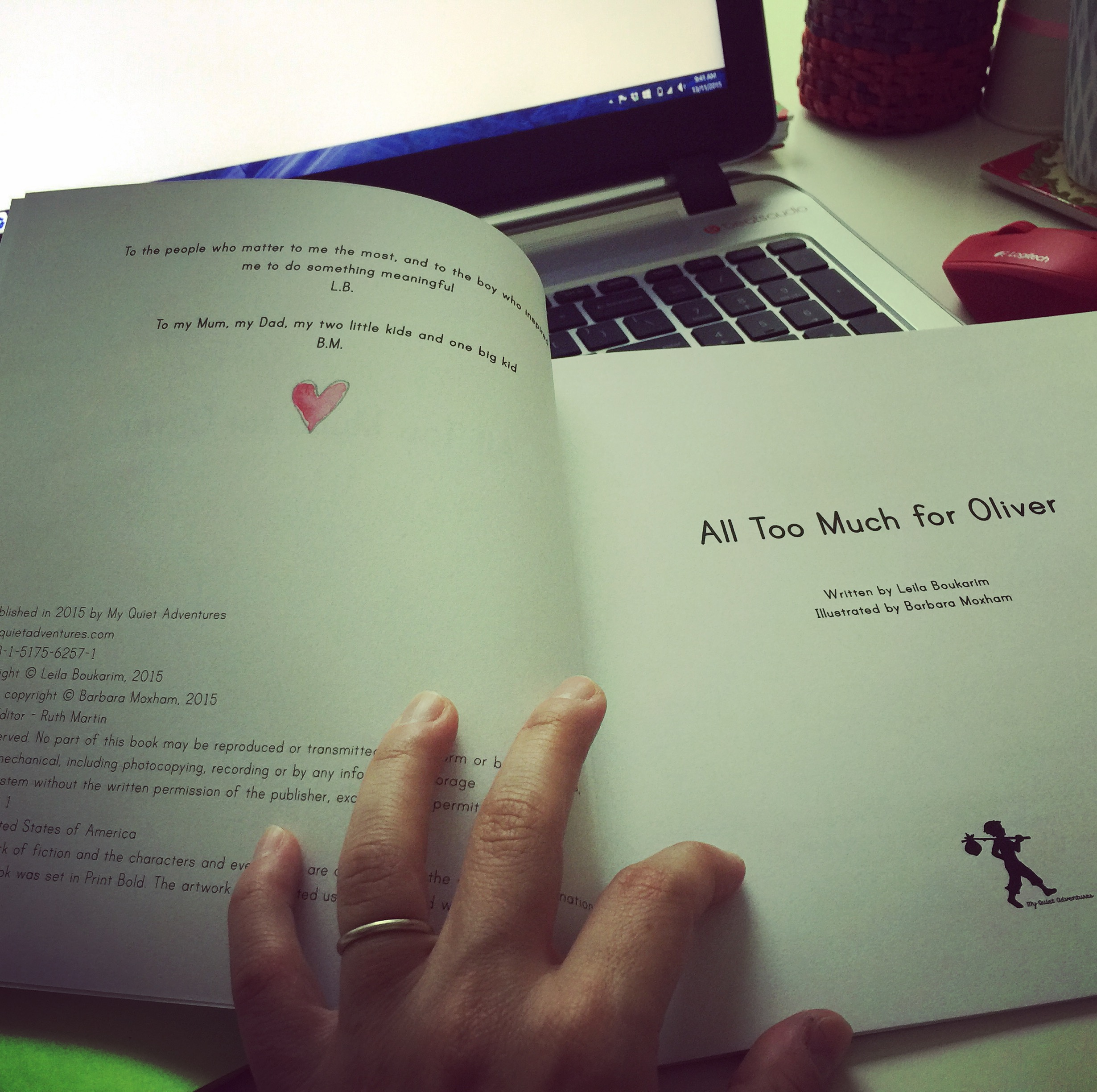 "Copy of our Book ""All Too Much For Oliver"" - Picture Book for Highly Sensitive Children (HSC)"