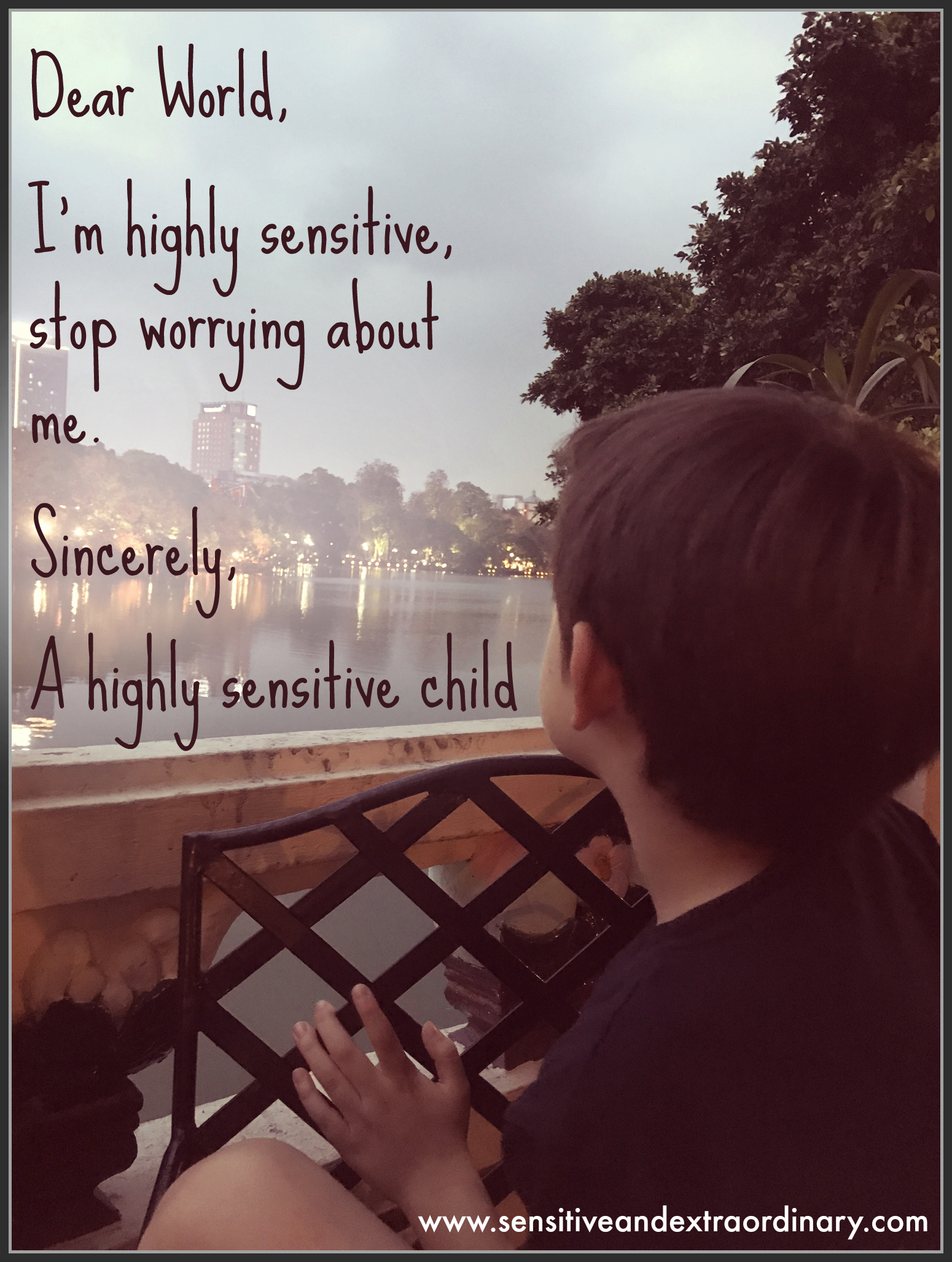 I'm highly sensitive, stop worrying about me
